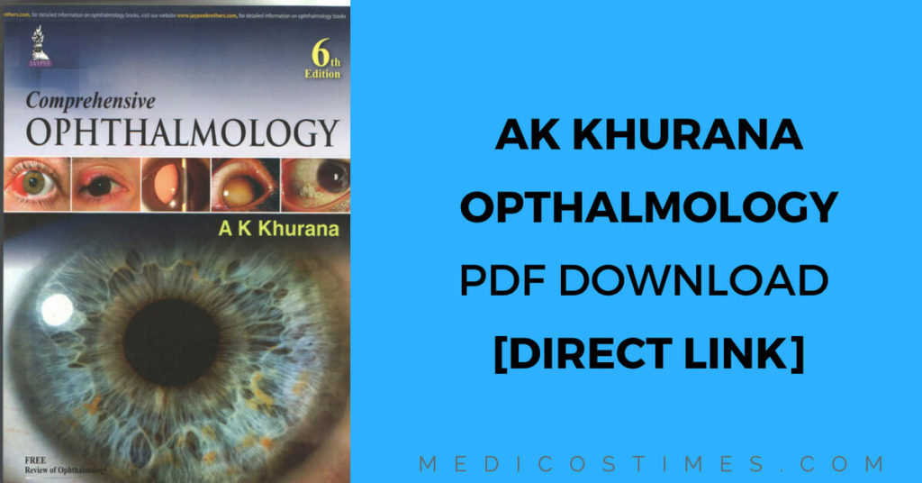AK Khurana Comprehensive Ophthalmology PDF Download [Direct Link