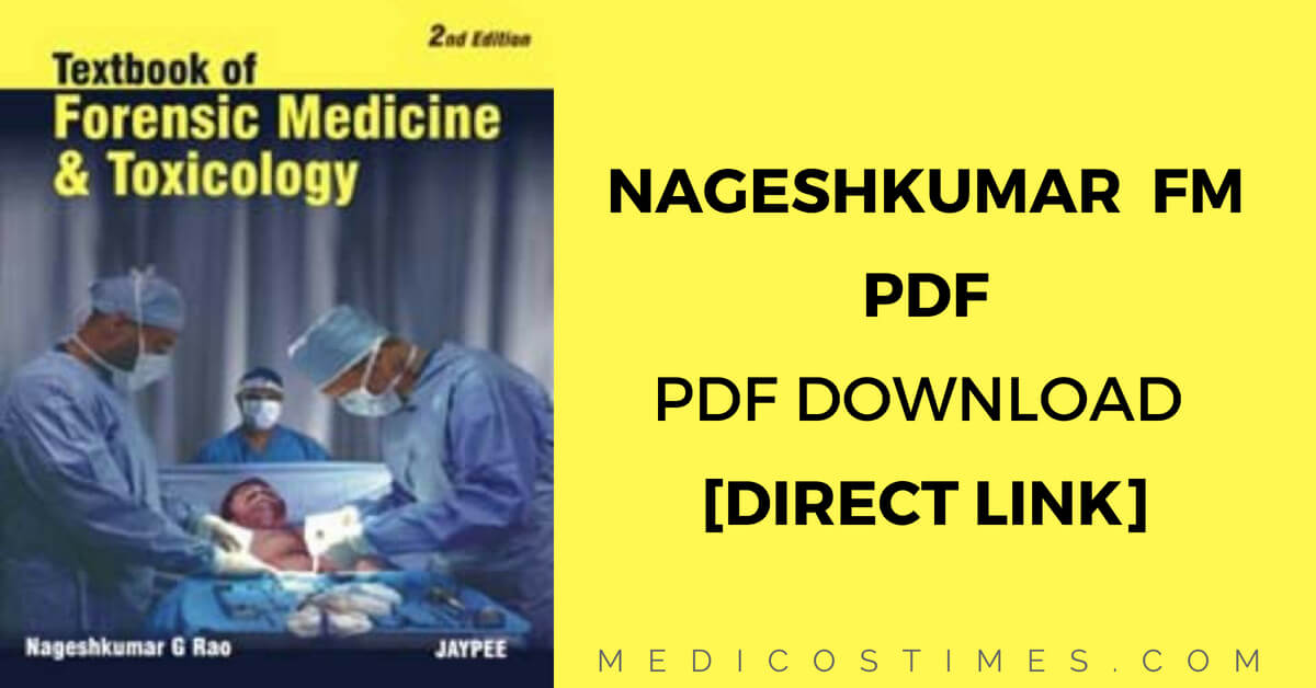 Nagesh Kumar Rao Forensic Medicine And Toxicology Pdf Download Direct Link Medicos Times