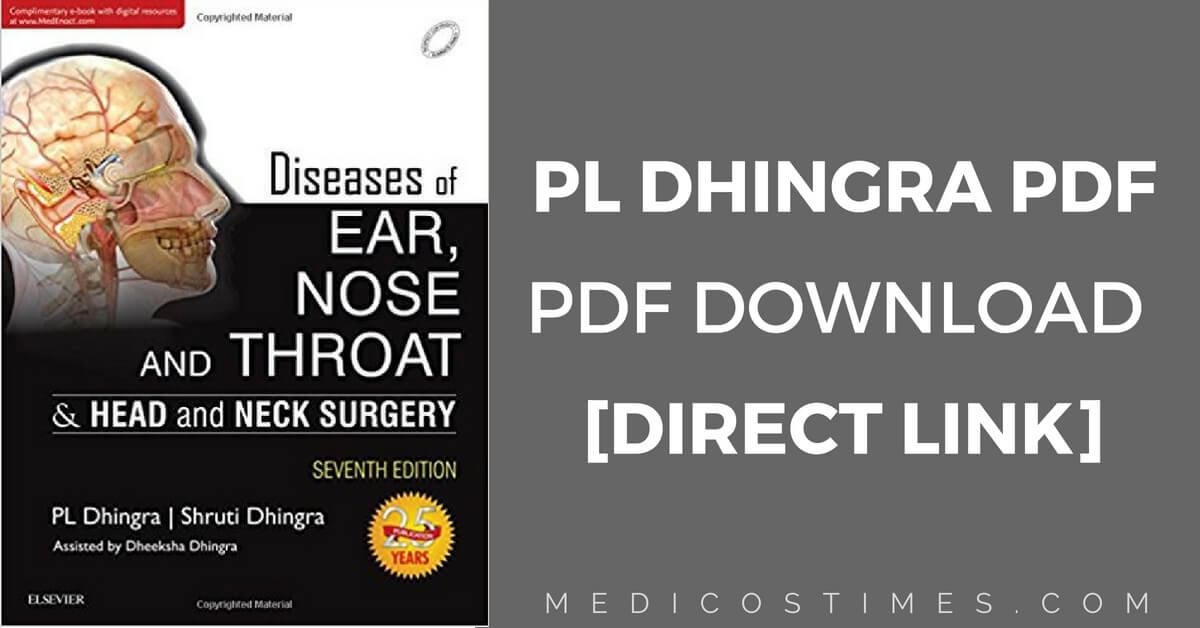 Dhingra ENT PDF Book Free Download [Direct Link] | Medicos Times
