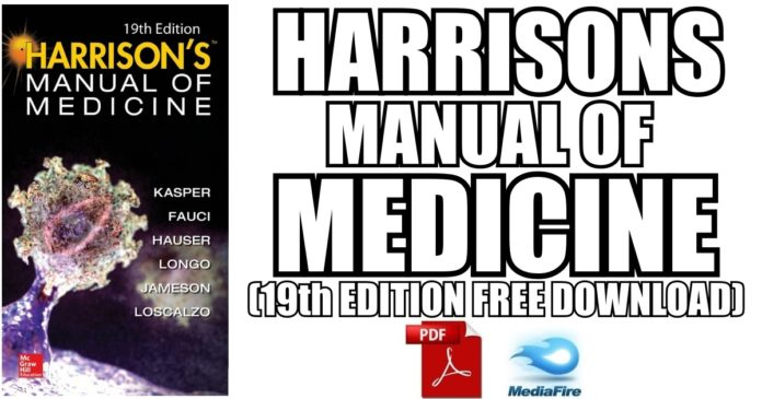 Harrisons Manual Of Medicine 19th Edition Pdf Free Download Direct