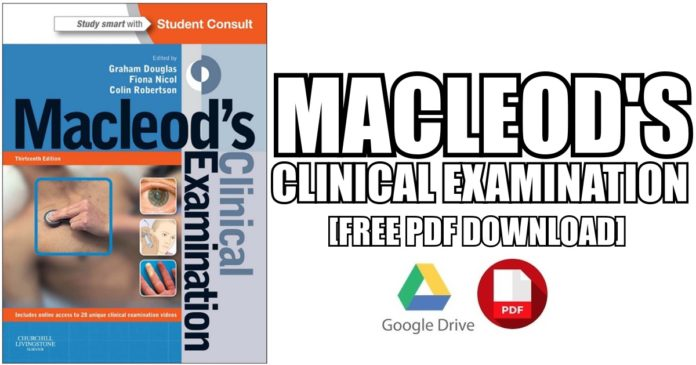 Macleod's Clinical Examination PDF 13th Edition Free Download