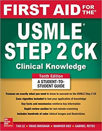 First Aid for the USMLE Step 2 CK PDF 10th Edition