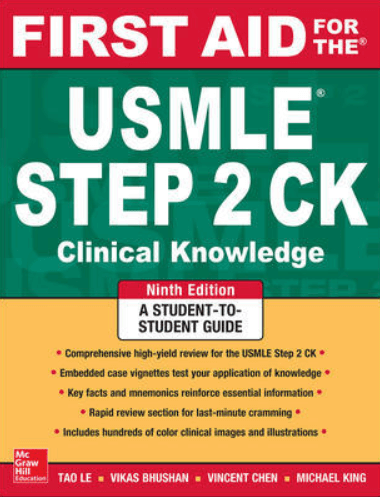 First Aid for the USMLE Step 2 CK PDF 9th Edition FREE