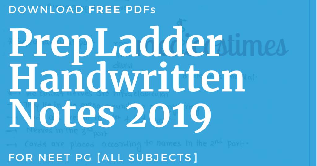 PrepLadder Handwritten Notes 2019