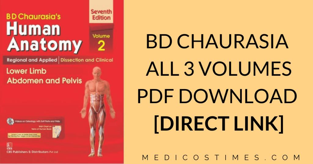 BD Chaurasiya PDF
